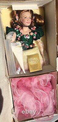 Franklin Heirloom Porcelain Doll The Rose Princess Never Unwrapped From Box