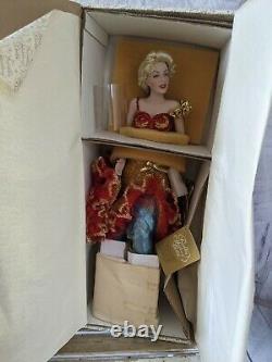 Franklin Marilyn Monroe heirloom red dress porcelain doll figurine vintage new