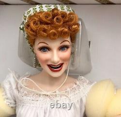 Franklin Mint 18 Lucille Ball Italian Movie Grape Stomping Porcelain Doll NIB