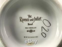 Franklin Mint 1987 The Romeo And Juiet Candlesticks Fine Porcelain 24
