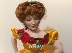 Franklin Mint 20 Belle Watling Porcelain Doll / Gone With The Wind (#BS-L)