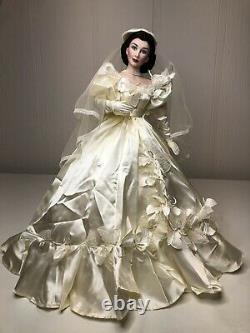 Franklin Mint 22 Porcelain Bride Scarlett OHara Gone With The Wind Doll