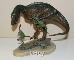 Franklin Mint 8H T-Rex Tyrannosaurus Porcelain Dinosaur Sculpture by M. Trcic