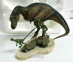 Franklin Mint 8 T-Rex Fight For Survival Porcelain Dinosaur Sculpture M. Trcic