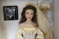 Franklin Mint Aleksandra Winter Bride Porcelain Doll 18 With COA In Shipper