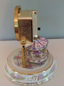 Franklin Mint Anniversary Carousel Clock by William Dentzel III. Porcelain
