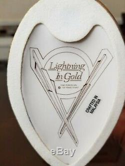 Franklin Mint Art Deco 24 Karat Gold Porcelain Figurine Lightning In Gold