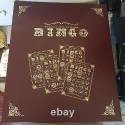 Franklin Mint Bingo Set Collectors Edition, Gold & Porcelain Complete RARE