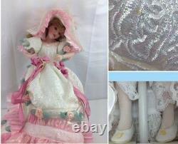 Franklin Mint Blushing Rose Porcelain Doll 22kt Maryse Nicole Signed COA & Box