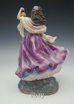 Franklin Mint Bronte Wuthering Heights Catherine Porcelain Figure Limited 11h