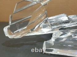 Franklin Mint Call of the Wild Wolf Figurine on Lead Crystal Mountainside