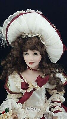 Franklin Mint Christmas Rose Porcelain Doll by Maryse Nicole