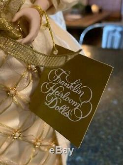 Franklin Mint Collector Porcelain Doll Aleksandra The Faberge Winter Bride COA
