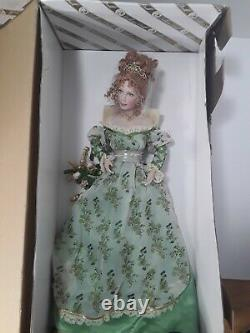 Franklin Mint Collector Porcelain Doll Rosie Princess Of Lismore Castle Nib
