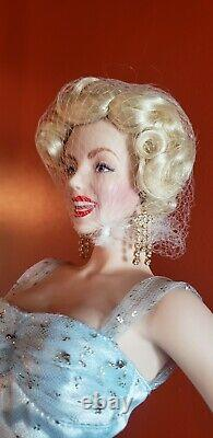 Franklin Mint Company Marilyn Monroe Large 18 Porcelain Doll in Blue Gown