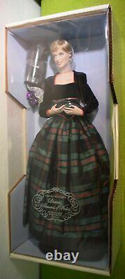 Franklin Mint Diana Princess Of Charm Porcelain Doll In Tartan Dress