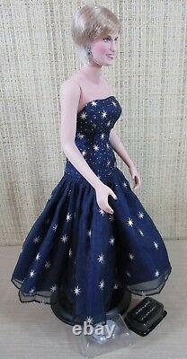 Franklin Mint Diana Princess Of Wales Enchantment Porcelain Portrait Barbie Doll