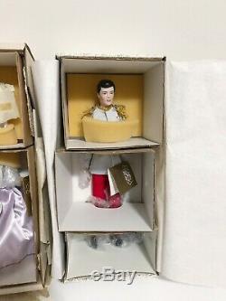 Franklin Mint Disney's Cinderella + Prince Charming Porcelain Doll New in Box