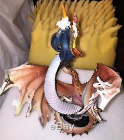 Franklin Mint Dragon Rising Porcelain Sculpture B11ZX99