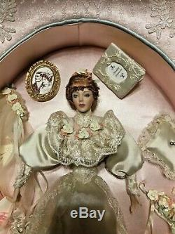 Franklin Mint Elaine Gibson Girl porcelain doll Frame Bride FREE SHIPPING