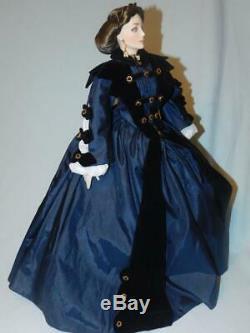 Franklin Mint Ellen O'Hara Gone With The Wind Doll 19 Porcelain Doll
