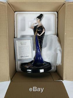 Franklin Mint Erte Moonlight Mystique Art Deco Porcelain Figure In Original Box