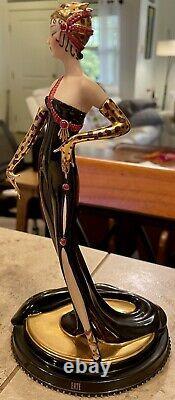 Franklin Mint Erte Untamed Beauty Figurine Art Deco Woman Statue Limited Edition