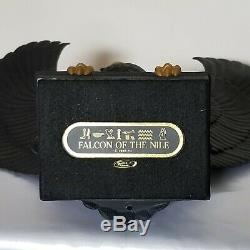 Franklin Mint FALCON OF THE NILE Statue 13 Black Porcelain 1988 Egyptian
