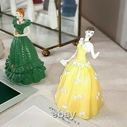 Franklin Mint FM Set 12 Birth Month Doll Statue Porcelain Figurine With Case