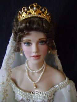 Franklin Mint Faberge Bride Doll Natalia- Porcelain 18 withBox