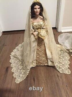 Franklin Mint Faberge Porcelain Bride Doll Lot of 4 Very Nice Collection