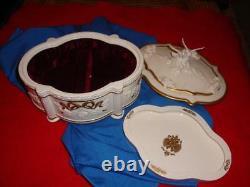 Franklin Mint Faberge Snow Dove Jewelry Music Box Porcelain 1991