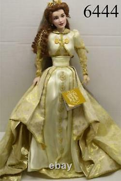 Franklin Mint Faberge Sonja Russian Fall Bride Doll Porcelain 18 VERY RARE NEW