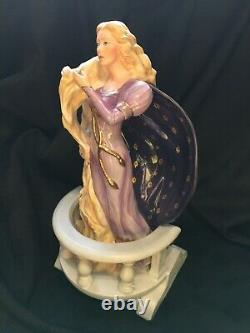Franklin Mint Fairy Tale Rapunzel Fine Porcelain Figurine by Greda Neubacher