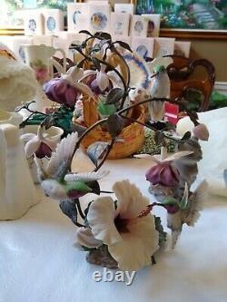 Franklin Mint Flight Of Fancy Faberge Hummingbird Sculpture Bronze Numbered Gift