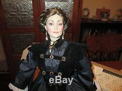 Franklin Mint GWTW Ellen O'Hara porcelain Doll pre-ownedHTF