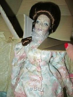 Franklin Mint Gibson Girl Tea At The Ritz Porcelain Doll NIB COA