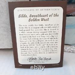 Franklin Mint Gilda Sweetheart of The Golden West Saloon Girl Porcelain Doll