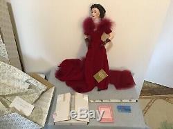 Franklin Mint Gold Standard 22 Scarlett OHara Doll Red Dress withCOA NIB (#BS-L)