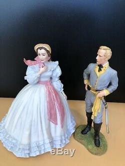 Franklin Mint Gone With The Wind 4 Porcelain Figurine Lot 10.5 Scarlet Rhett 88