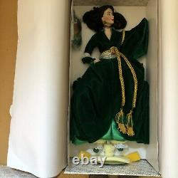 Franklin Mint Gone With the Wind Scarlett Golden Tribute Porcelain Doll NRFB