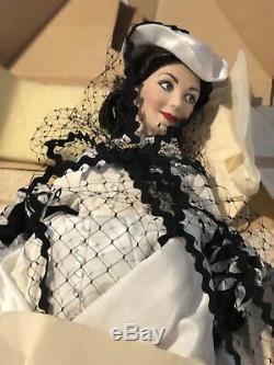 Franklin Mint Gwtw Scarlet O'hara Honeymoon Dress Porcelain Doll In Original Box