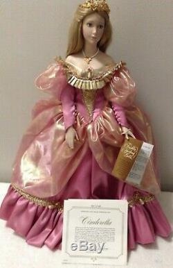 Franklin Mint Heirloom Cinderella Porcelain Doll Rare