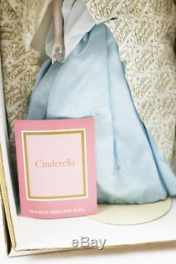 Franklin Mint Heirloom Cinderella Prince Charming Collectible Porcelain Dolls