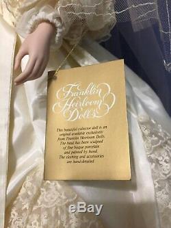 Franklin Mint Heirloom Collection Queen Victoria Albert Bride porcelain Doll