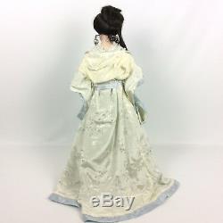 Franklin Mint Heirloom Doll Gibson Girl Boudoir 22 Inch Porcelain + Box COA