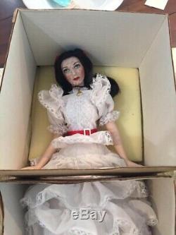 Franklin Mint Heirloom Doll Gone With The Wind Scarlett O'Hara porcelain 19