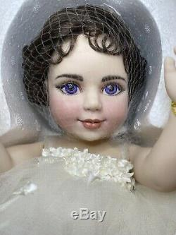 Franklin Mint Heirloom Elizabeth Taylor Porcelain Portrait Baby Doll Rare