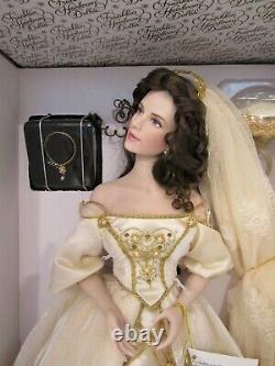 Franklin Mint Heirloom Faberge ALEKSANDRA the Winter Bride Porcelain doll NIB