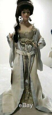 Franklin Mint Heirloom Gibson Girl Boudoir Doll Porcelain Original Box & Stand